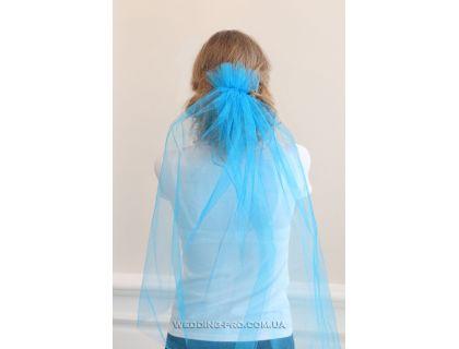 Фата для девичника голубая
