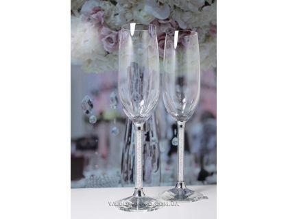 """Бокалы для шампанского свадебные """"Crystal"""" 230 ml"""