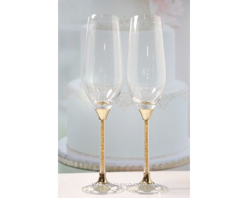 """Оригинальные бокалы на свадьбу """"Crystal Gold Plus"""" 235 ml"""
