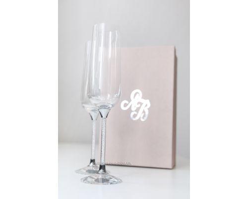 "Бокалы для шампанского на свадьбу ""Crystal"" 270 ml"