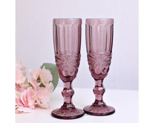 Бокалы для шампанского свадебные марсала