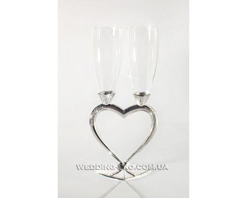 Бокалы свадебные половинки сердца