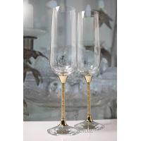 """Бокалы свадебные гламур """"Crystal Gold Plus"""" 270 ml"""