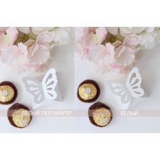 Бонбоньерка бабочка белая