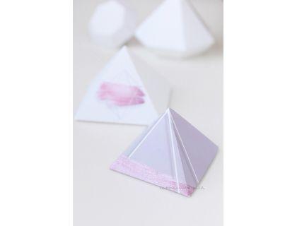 """Бонбоньерки треугольные """"Пирамида"""" с печатью"""