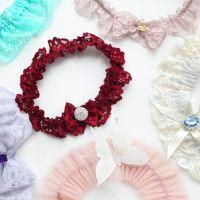 Цветные подвязки невесты