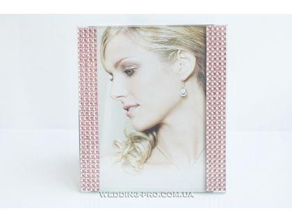 Красивая рамка для фото с розовыми стразами 10х15