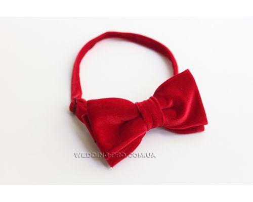 Бабочки для костюма велюровые красные
