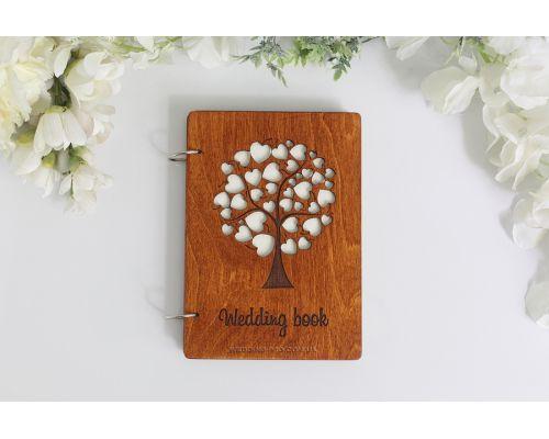 Книги пожеланий на свадьбу обложка из дерева