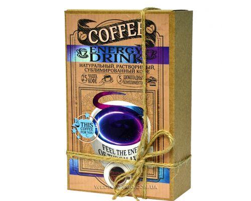 "Кофейный набор ""ЕNERGY DRINK"" 50гр кофе+5 плиток с комплиментами"