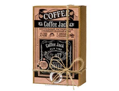 """Набор кофе и шоколад  """"КОФЕЙНЫЙ JAСK"""" 50гр кофе+5 плиток с комплиментами"""
