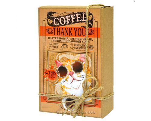 "Кофейный набор ""THANK YOU"" 50гр кофе+5 плиток с комплиментами"