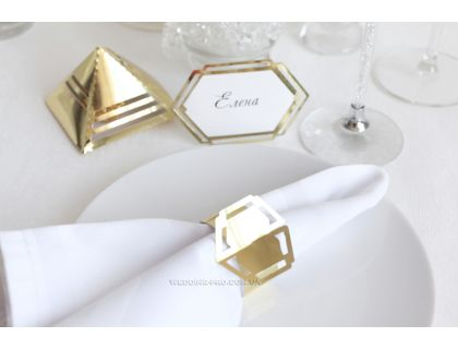 "Кольцо для салфеток в золоте ""Геометрия 2"""