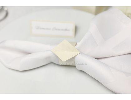 """Свадебные кольца для салфеток """"Ромб"""""""