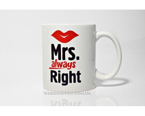 """Чашка миссис Коллекция """"Mr & Mrs"""""""