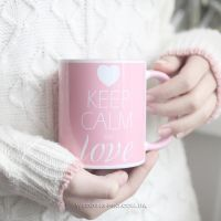 """Оригинальная чашка """"Keep calm and love"""""""