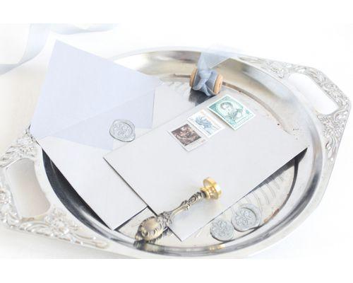 Красивые конверты из бумаги крафт серебро