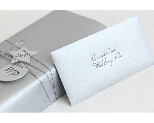 Маленькие конверты крафт серебро