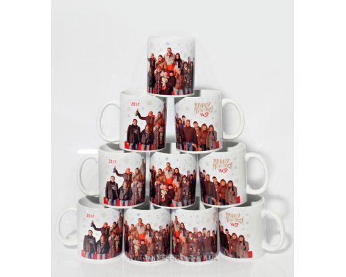 Чашки с индивидуальной фотографией и логотипом компании