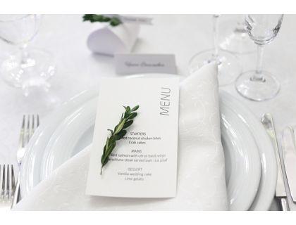 """Свадебное меню карточка """"Рустик"""""""