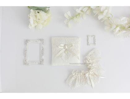 """Свадебный набор """"Princess"""" подвязка и подушечка"""