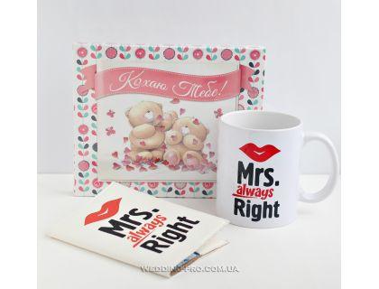 """Набор """"Набор Кохаю Миссис"""" шоколадный набор+чашка и обложка на паспорт"""