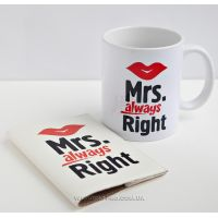 "Набор ""Миссис "" чашка и обложка на паспорт"