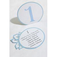 Круглые номерки на столах гостей