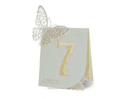 "Таблички на стол с номерами ""Butterfly"""