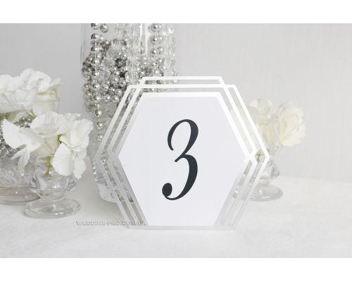 "Таблички на стол с номером ""Геометрия"""