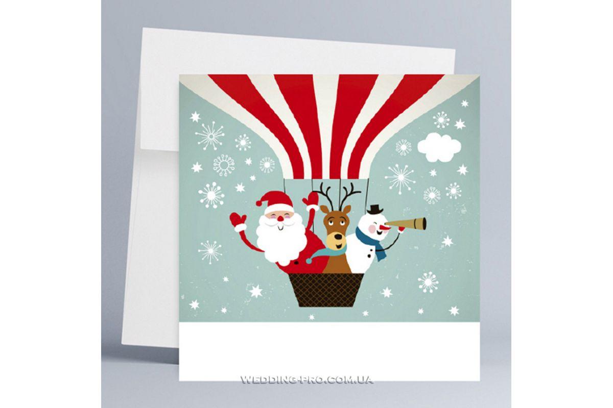 Новогодние корпоративные открытки с логотипом, кленовый