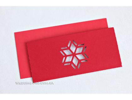 Бизнес открытка - Снежинка евро