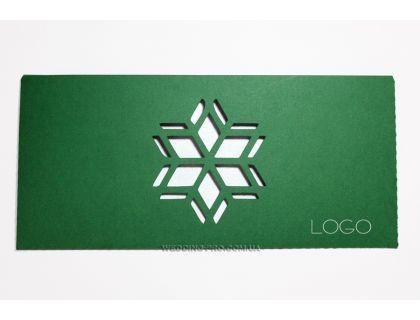 """Новогодние открытки с логотипом компании """"Снежинка"""""""