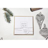 """Новогодние бизнес открытки """"Стиль"""" крафтовые"""