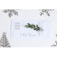 "З різдвом христовим открытки ""Сканди"" с натуральным самшитом"