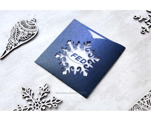 """Дизайнерские корпоративные открытки """"Снежинка"""""""