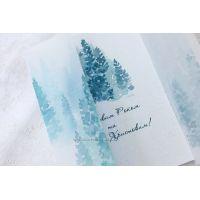 """Красивые корпоративные открытки """"Изумрудный лес"""""""