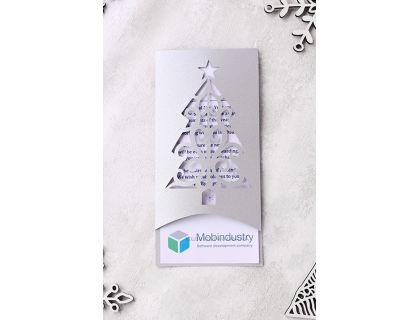 З Новим Роком та Різдвом Христовим! на 25 языках мира Серебристый
