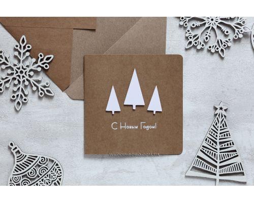 Креативные открытки с 3Д ёлками