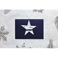 """Изготовление новогодней открытки """"Звезда"""" с вашим логотипом"""