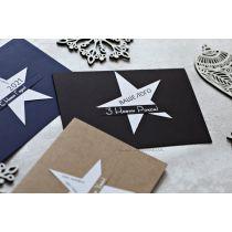 """Стильные открытки """"Звезда"""" с вашим логотипом"""