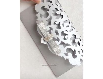 """Открытка конверт для денег с брошью """"Версаль"""""""