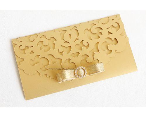 """Открытки конверты для денег """"Версаль"""" с брошью"""