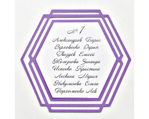 План рассадки гостей на свадьбе в стиле Геометрия