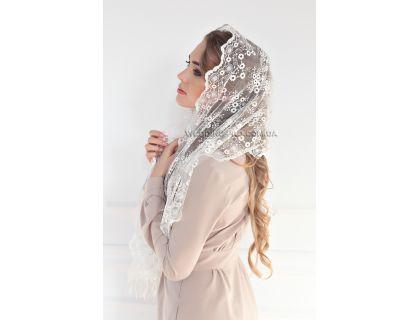 Cвадебный платок айвори