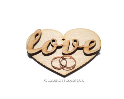 "Подушка для свадебных колец ""Love"""