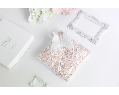 "Подушки для свадебных колец ""Butterfly"" с бабочкой 3Д"
