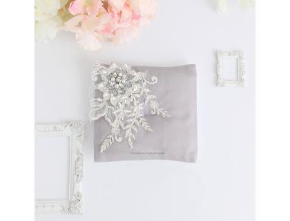 """Свадебные подушки для колец """"Селин"""" с расшитым украшение"""
