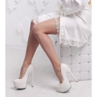 """Свадебная подвязка """"Елизавета 2"""" с кристаллами DELUXE"""