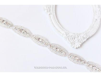 """Подвязка на ножку невесты """"Грєйс"""" с кристаллами, DELUXE"""
